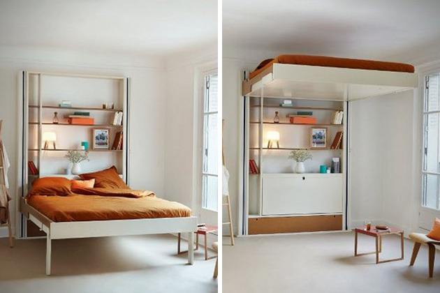 작은 공간을 스마트하게 활용한다. 엘리베이터 침대 > 갤러리 ...